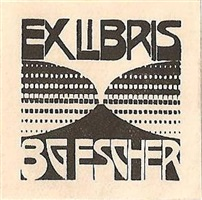 bookplate b.g. escher [beer] by m. c. escher